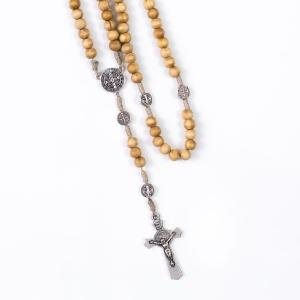 Rosary - wood - 10 mm - St. Benedict