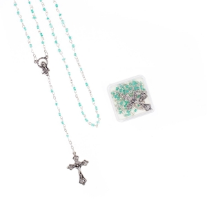 Rosary - glass - 4 mm - box