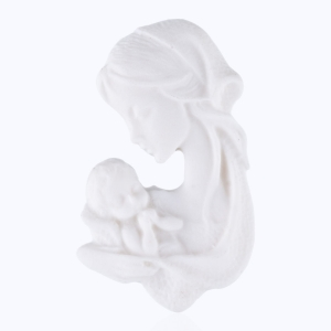 Magnet - Our Mother with Baby Jesus - Alabaster
