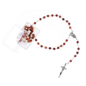 Rosary - agate - 6 mm - natural stone