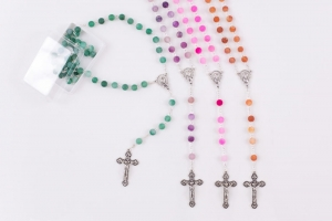 Rosary - frozen agate - 8 mm - natural stone