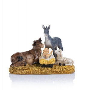 Figurine - Baby Jesus for nativity scene - animals - 10 cm - Classic