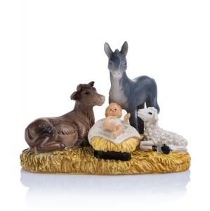 Figurine - Baby Jesus for nativity scene - animals - 7 cm - Classic