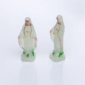 Figurine - fluorescent - Our Lady Immaculate - 6,5 cm