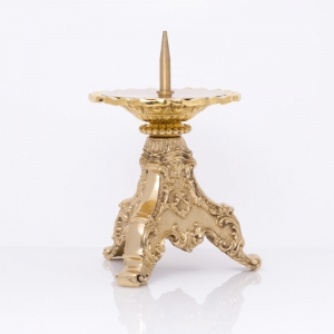 Candle holder - brass - 13 cm