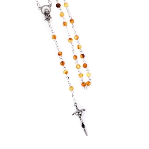 Rosary - synthetic amber - 5 mm