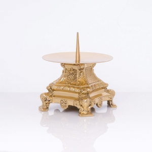 Candle holder - brass - 9 cm