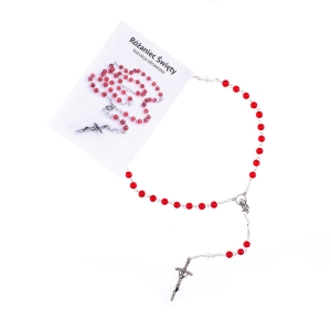 Rosary - glass - 6 mm - The Holy Rosary - multilanguage instruction (PL, ENG, IT, ESP)