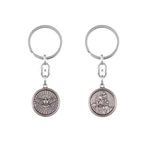 Keyring - Holy Spirit - St. Christopher