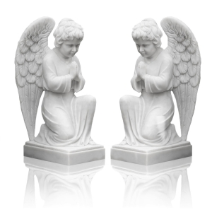 Statues - marble - angels - 50 cm
