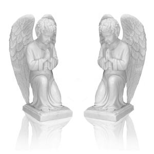 Statues - marble - angels - 100 cm