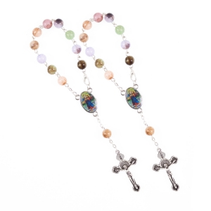 Single decade rosary - plastic - 8 mm - st. Christopher