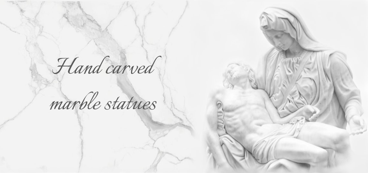 Hand carved marble statues