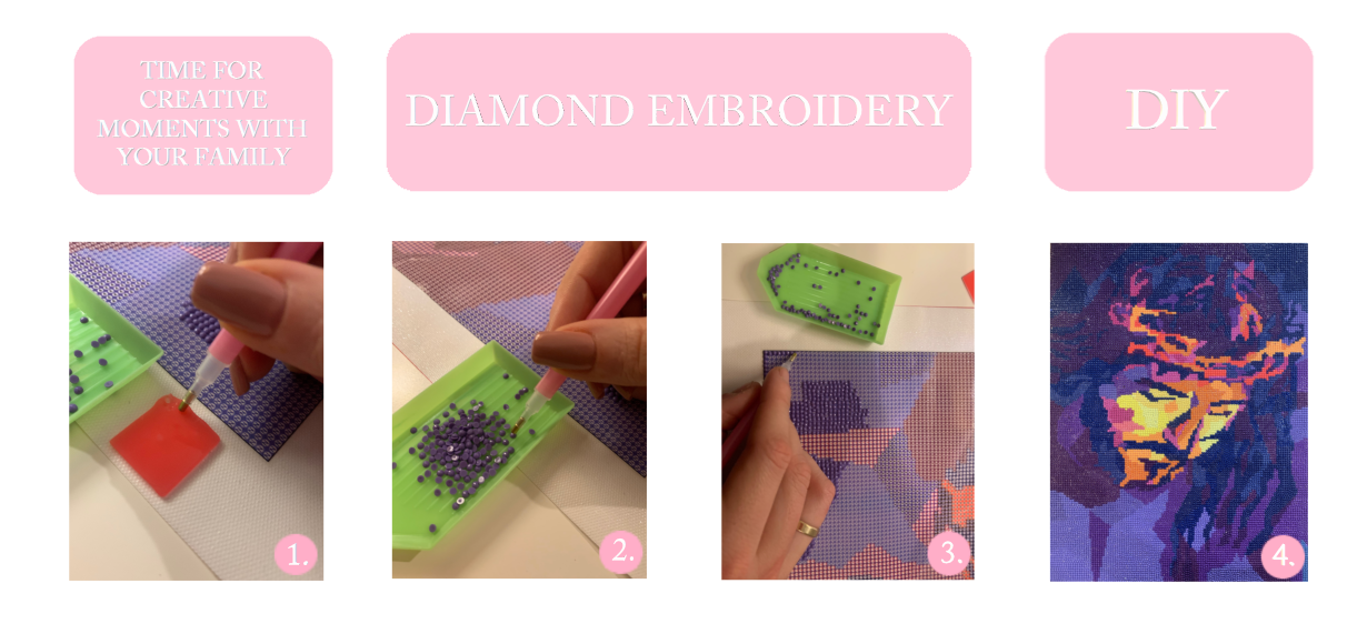 Diamond Embroidery - Time for creative moments with your family