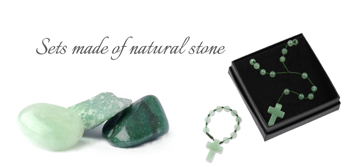 Sets made of natural stones